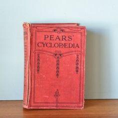 Vintage book  Pears Cyclopedia 1931
