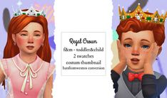 Kids Tiara, Sims 4 Decades Challenge, Sims 4 Toddler Clothes, Sims Medieval, Sims Stories, Sims 4 Collections, Sims Packs, Crown For Kids, Sims 4 Children