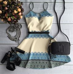Beige Floral Condole Belt Cut Out Sleeveless Mini Dress Dress Outfits, Casual Dresses, Cool Outfits, Short Dresses, Fashion Dresses, Pretty Dresses, Beautiful Dresses, Mode Rockabilly, Feminine Style