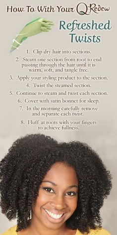 Imagine taking your old wash and go or twist out and completely refreshing your style without rewetting or washing your hair. Sound too good to be true? With the Q-Redew, it isn't! See our blog for tutorials. #QRedew