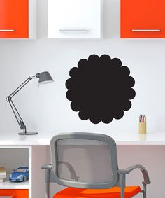 Take a look at this Black Scallop Circle Chalkboard Decal by Inspire Your Walls on #zulily today!
