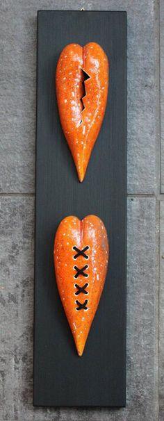 Ceramic hjarta by Anna Katarina Haaland