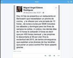 Otro ejemplo de la reforma laboral en España pura y dura. #reformalaboral #explotacion #esclavitud #EsclavitudEnEspaña #España #MarcaEspaña #MarcaEspana #joven #jovenes