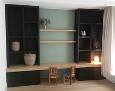 Very nice enclosure, with a combination of storage and decoration cabinet made madecabinet New Living Room, Home And Living, Modern Home Interior Design, Diy Interior, Modern Design, Casa Kids, Home Daycare, Piece A Vivre, Living Styles