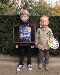 Starry Night and Van Gogh Halloween Costume by Libby Chisholm Fearnley Homemade Halloween Costumes, Halloween Costume Contest, Family Halloween Costumes, Halloween Cosplay, Holidays Halloween, Cool Costumes, Halloween Crafts, Happy Halloween, Halloween Party
