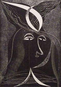 """Lady"" by Charles Shearer (card print)"