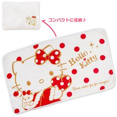 Hello Kitty Throw Blanket Lap Robe Fleece Blanket RED Series SANRIO JAPAN