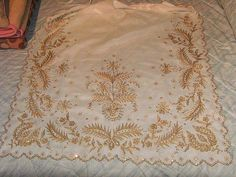 Linens, Saddle Pads, Aprons, 18th Century, Tulle, Traditional, Dots, Lace, Bedding