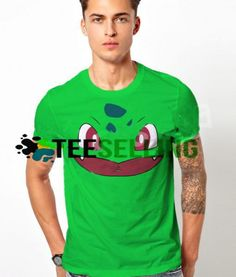 Bulbasaur Face T-SHIRT UNISEX Price: 15.50 #hoodie Funny Shirt Sayings, Shirts With Sayings, Funny Shirts, Cute Graphic Tees, Graphic Shirts, Bulbasaur, Workout Shirts, How To Look Better, Unisex