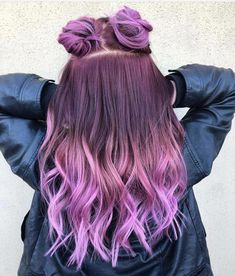 33 Cutest Fabo Hairstyles Trends And Ideas Inspirations 33 süßeste Fabo Frisuren Trend Cute Hair Colors, Pretty Hair Color, Beautiful Hair Color, Hair Dye Colors, Purple Hair, Ombre Hair, Purple Ombre, Balayage Hair, Coloured Hair