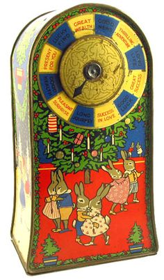 British Biscuit Tins - 1929 Jacobs has a spinning arrow game on the front