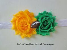 Green Bay Packers Headband: baby headbands, newborn headband, football headbands, infant headband, toddler headband, childrens headband