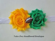 Green Bay Packers Headband: baby headbands, newborn headband, football headbands, infant headband, toddler headband, childrens headband