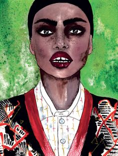 Inspired by us: We challenge four SA artists to interpret ELLE images using their own style and imagination in this month's #AfricaIssue
