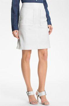 Halogen® Patch Pocket A-Line Skirt
