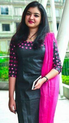 Malavika nair wallpaper by sarushivaanjali - - Free on ZEDGE™ Salwar Neck Designs, Kurta Neck Design, Fancy Blouse Designs, Kurta Designs Women, Blouse Neck Designs, Chudi Neck Designs, Churidhar Designs, Long Dress Design, Simple Kurti Designs