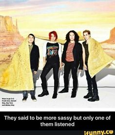Photo of MCR in NME Magazine (December for fans of Gerard Way 16868920 Gerard Way, Mcr Memes, Band Memes, Music Memes, Emo Bands, Music Bands, My Chemical Romance Memes, Nme Magazine, Ray Toro