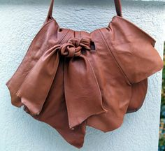 Camel Tan Leather Hobo Handbag with by ElegantElementsOnlin, $200.00