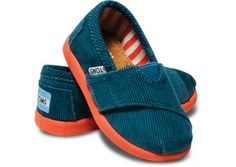 Teal Cord Tiny Toms