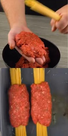 Wrap The Spaghetti In Ground Beef & Throw It In The Oven For 30 Minutes spaghetti recipes, italian spaghetti recipe, easy spaghetti recipes, best spaghetti meat sauce recipe, how to make spaghetti with ground beef and ragu sauce, best spaghetti recipe, traditional spaghetti recipe, how to make the best spaghetti,
