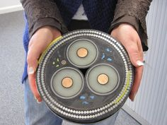 What a cross section of an underwater data cable looks like.