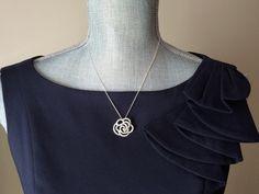 Swarovski Crystal NecklaceSterling Silver by CotonLilyCreations