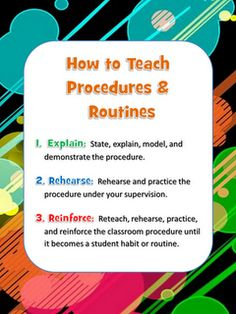 Classroom Management: Procedures