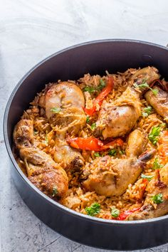 Jollof rice with chicken recipe jollof rice rice and africans chicken jollof rice african recipe recipes from a pantry forumfinder Gallery