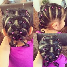 Wedding Hairstyles for Flower Girls - Braids gorgeous braids for little girls Girls Hairdos, Cute Little Girl Hairstyles, Little Girl Braids, Flower Girl Hairstyles, Girls Natural Hairstyles, Girls Braids, Braided Hairstyles, Wedding Hairstyles, Easy Toddler Hairstyles