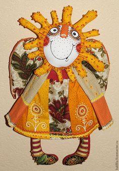 Купить или заказать Солнечная Масленица и Светлоликая Луна в интернет магазине на Ярмарке Мастеров. С доставкой по России и СНГ. Срок изготовления: 7 -14 дней. Материалы: текстиль. Размер: около 50см