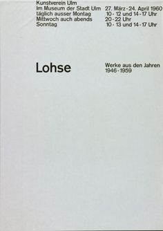 Kunstverein / Poster / 1960