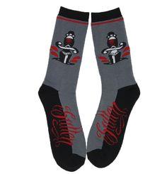 Inked Boutique - Cloak Socks Grey Men's Sullen American Traditional Tattoo Daggers http://www.inkedboutique.com/