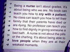 Being a nurse....