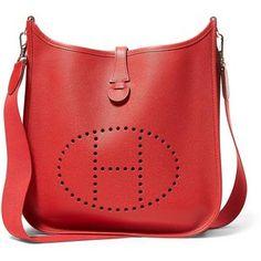 Luxe Vintage Finds Hermes Red Epsom Evelyne Handbag