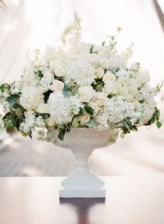 gorgeous white floral urn...