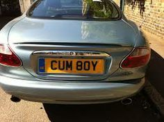 Funny Number Plates, Private Number Plates, Reg Plates, Cool Numbers, Vanity License Plates, Registration Plates, Vanity Plate, Funny Names, Name Signs