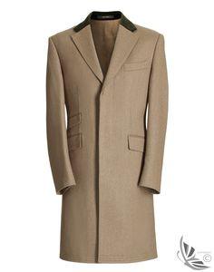 Crombie Men's Covert Over Coat – Lovat A0083CTGR
