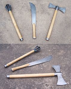 musthave weapons to own in a zombie apocalypse 640 49 Anime Weapons, Fantasy Weapons, Weapons Guns, Zombie Tools, Zombie Apocalypse Weapons, Beil, Homemade Weapons, Sword Design, Weapon Concept Art
