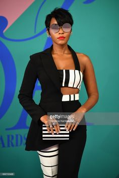 Janelle Monae attends the 2017 CFDA Fashion Awards at Hammerstein Ballroom on June 2017 in New York City. Janelle Monae attends the 2017 CFDA Fashion Awards at Hammerstein Ballroom on June 2017 in New York City. Look Fashion, High Fashion, Womens Fashion, Fashion Design, Chic Outfits, Fashion Outfits, Fashion Trends, Fashion Inspiration, Mode Style