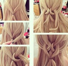 Simpla and easy hairstyle