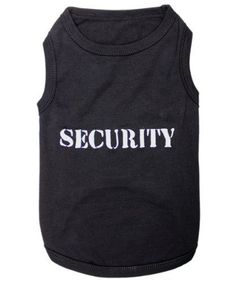 Pet Clothes SECURITY Dog T-Shirt - Extra-Large - http://www.thepuppy.org/pet-clothes-security-dog-t-shirt-extra-large/