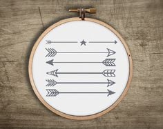 modern cross stitch pattern ++ geometric arrows ++ retro indian military ++ pdf INsTAnT DOwNLoAD ++ diy hipster ++ handmade design