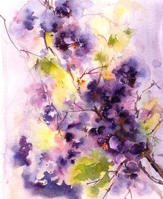 Hey, I found this really awesome Etsy listing at https://www.etsy.com/listing/245728539/original-watercolor-painting-of-lilac
