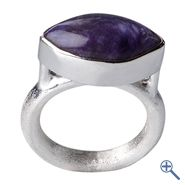 Ring Charoit, Größe 53 | Großhandel Heilsteine, Mineralien-Handel Edelsteine, Großhändler Silberschmuck, Perlen Trommelsteine