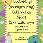Double Digit Subtraction no regrouping Space for Cake Walk Style Game with a Twist  and Space Write the Room  7 Games of Learning and Fun!   We lov...