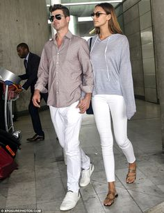 Robin Thicke and April Love Geary, - Charles de Gaulle Airport, Paris May 25 2105