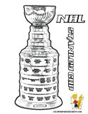 NHL Championship Trophy Coloring Page