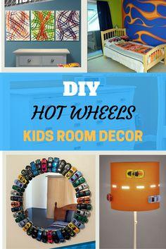 DIY Hot wheels themed kids room decor ideas for your boys room, hot wheel styled theme room,