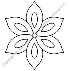 "Quilting Stencils > Floral & Leaf Block - Item: 4"" on QuiltingCreations.com"