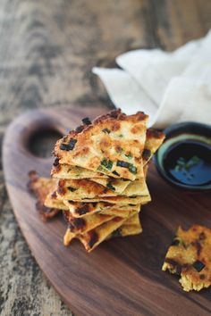 Gluten-free scallion pancakes - incredibly crispy with a slightly chewy bite. Gluten Free Muffins, Gluten Free Diet, Foods With Gluten, Gluten Free Cooking, Gf Recipes, Gluten Free Recipes, Vegetarian Recipes, Cooking Recipes, Surimi Recipes